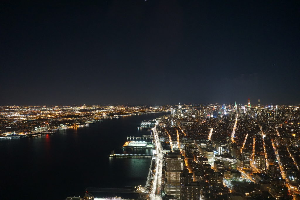 NYC by night from One World Center